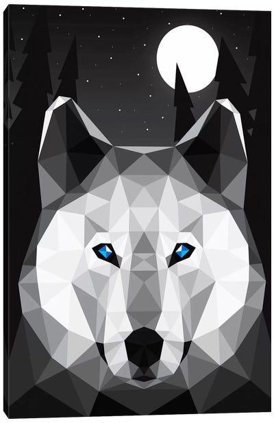 Tundra Wolf Canvas Art Print