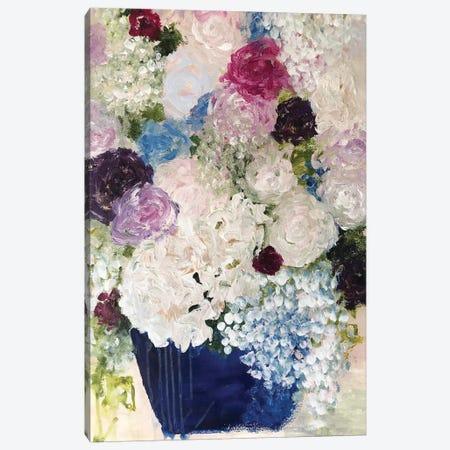 Blue Pottery Canvas Print #DAW47} by Darlene Watson Canvas Artwork