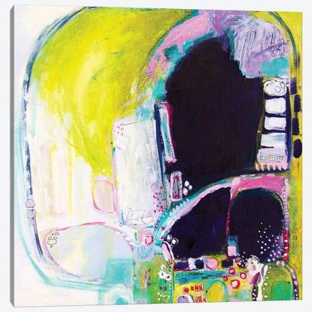 Holding My Heels, I Flag The Cab Canvas Print #DAW52} by Darlene Watson Canvas Wall Art