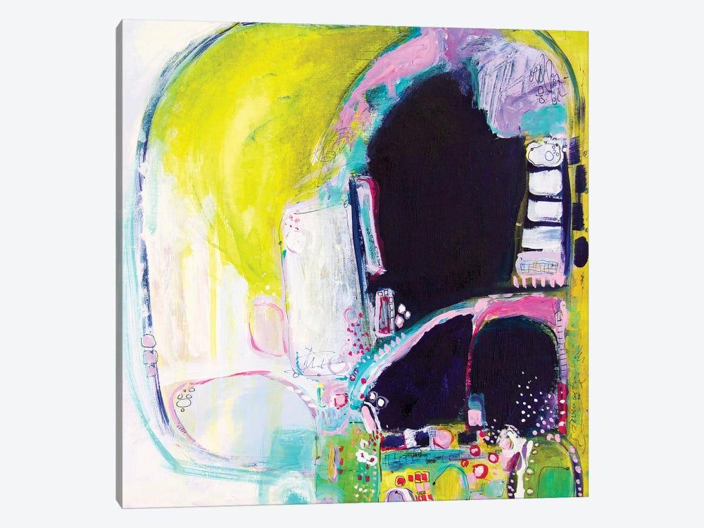 Holding My Heels, I Flag The Cab by Darlene Watson 1-piece Canvas Art