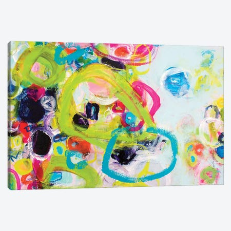 Pink Moon Canvas Print #DAW65} by Darlene Watson Canvas Artwork