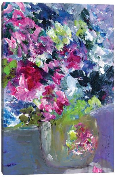 What A Tiny Floral Vase Canvas Art Print