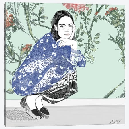 Crouching Canvas Print #DAY12} by Amber Day Canvas Art