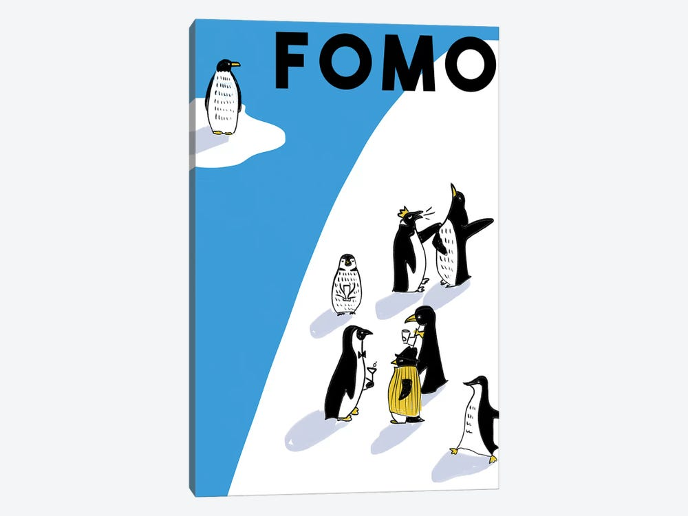 FOMO I by Amber Day 1-piece Canvas Art