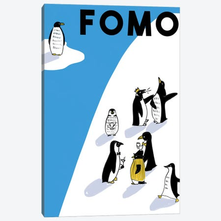 FOMO I Canvas Print #DAY19} by Amber Day Canvas Wall Art