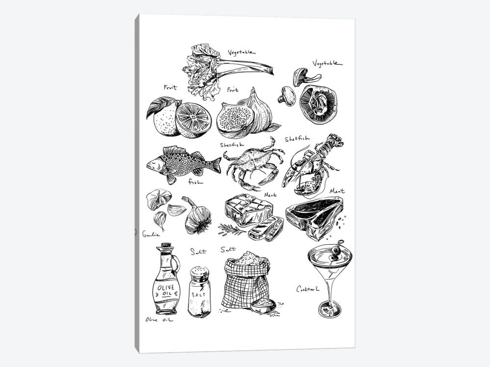 Food Labels All by Amber Day 1-piece Canvas Print