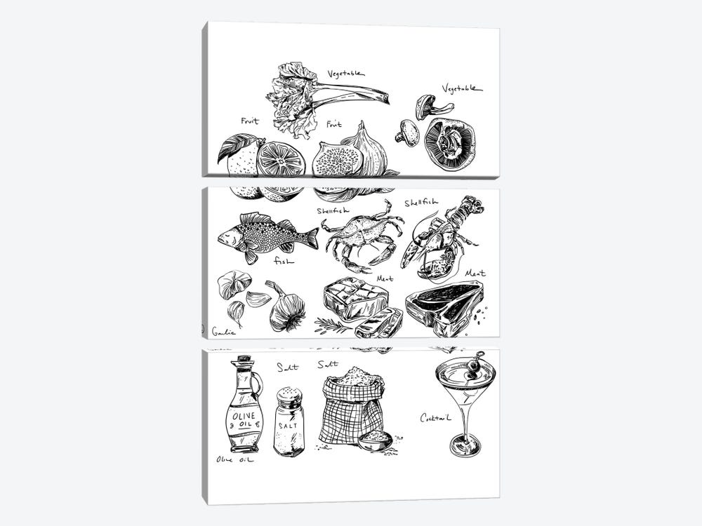 Food Labels All by Amber Day 3-piece Canvas Print