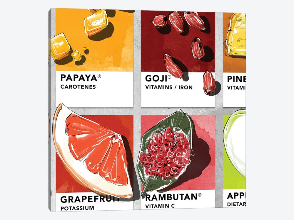 Fruit V by Amber Day 1-piece Canvas Art