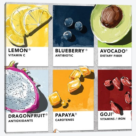 Fruit VI Canvas Print #DAY23} by Amber Day Art Print