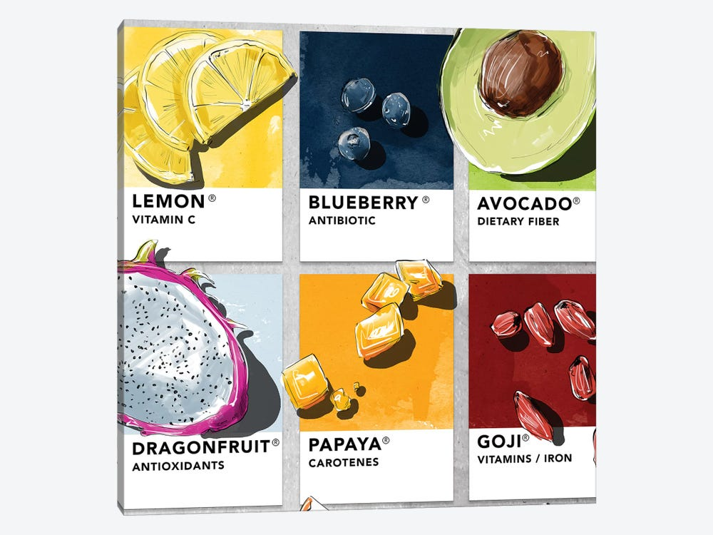 Fruit VI by Amber Day 1-piece Canvas Art Print