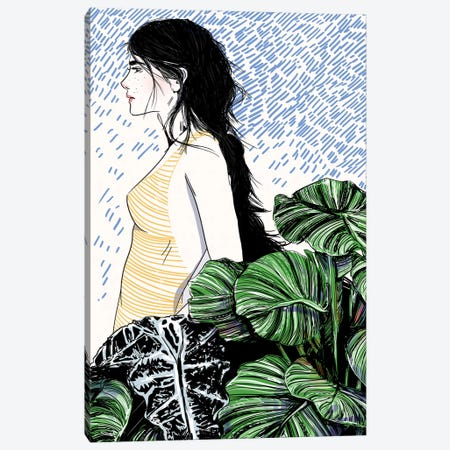Garden Blue Canvas Print #DAY24} by Amber Day Canvas Art