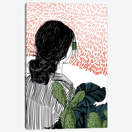 Garden Red Canvas Print #DAY25} by Amber Day Canvas Artwork