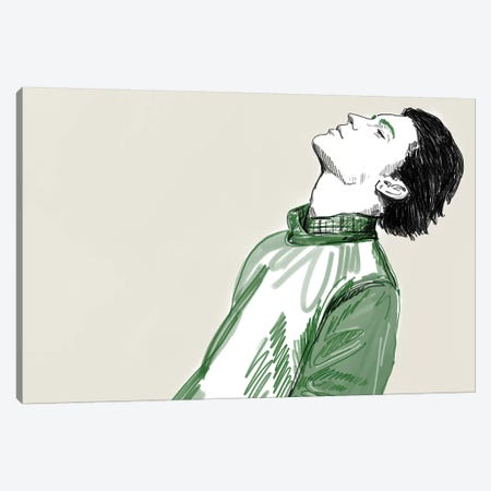 Green Canvas Print #DAY27} by Amber Day Canvas Art