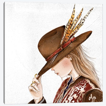Hat III Canvas Print #DAY28} by Amber Day Art Print