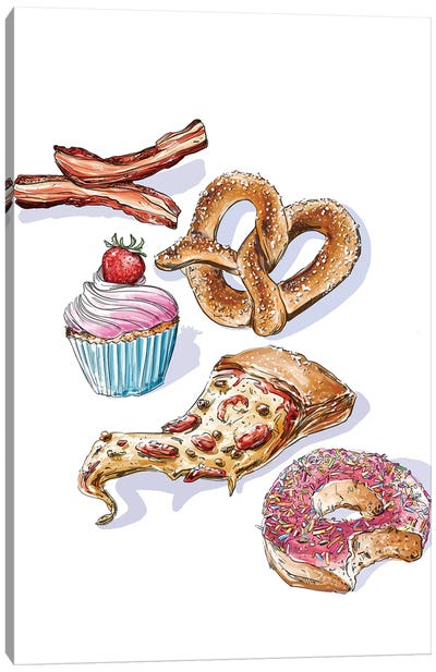 Junk Food Canvas Art Print