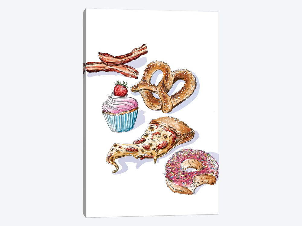 Junk Food by Amber Day 1-piece Canvas Wall Art