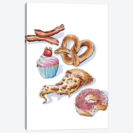 Junk Food Canvas Print #DAY31} by Amber Day Canvas Art