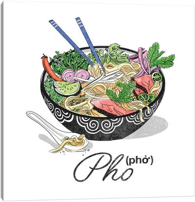 Pho Canvas Art Print
