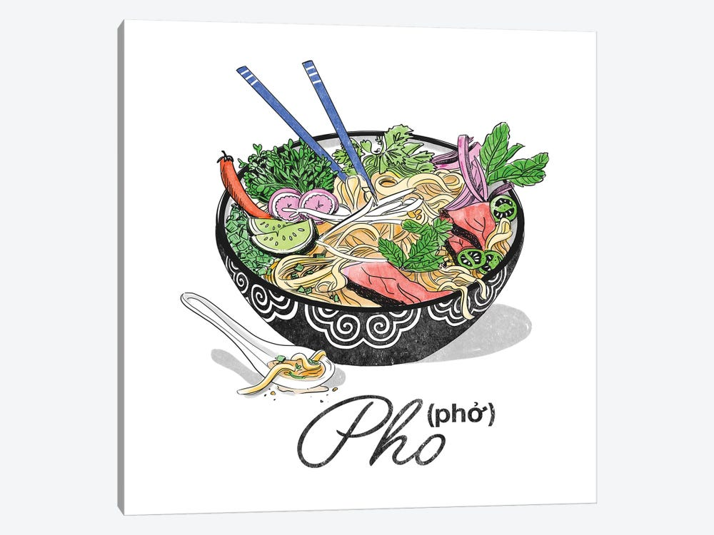 Pho by Amber Day 1-piece Canvas Artwork