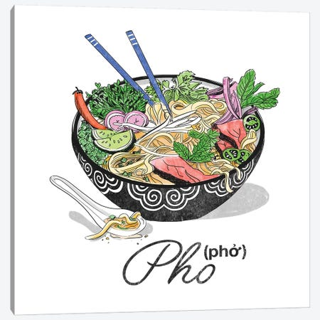 Pho 3-Piece Canvas #DAY37} by Amber Day Canvas Print