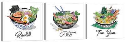 Pho Triptych Canvas Art Print