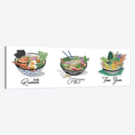 Pho Triptych Canvas Print Set #DAY3HSET001} by Amber Day Art Print