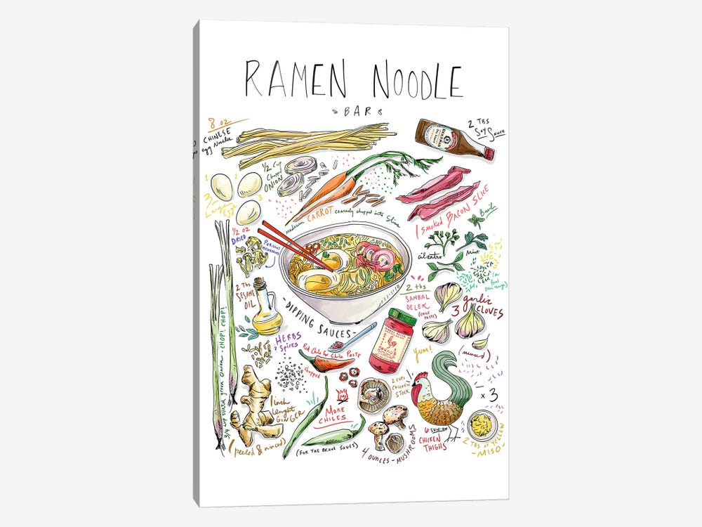 Ramen Noodle Bar by Amber Day 1-piece Canvas Wall Art