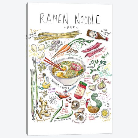 Ramen Noodle Bar 3-Piece Canvas #DAY40} by Amber Day Canvas Art Print