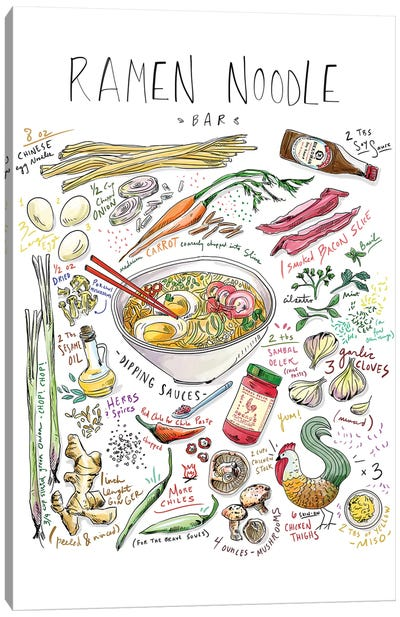 Ramen Noodle Bar Canvas Art Print