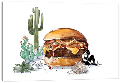 Southwest Burger Canvas Art Print