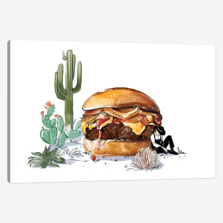 Southwest Burger Canvas Print #DAY45} by Amber Day Canvas Wall Art
