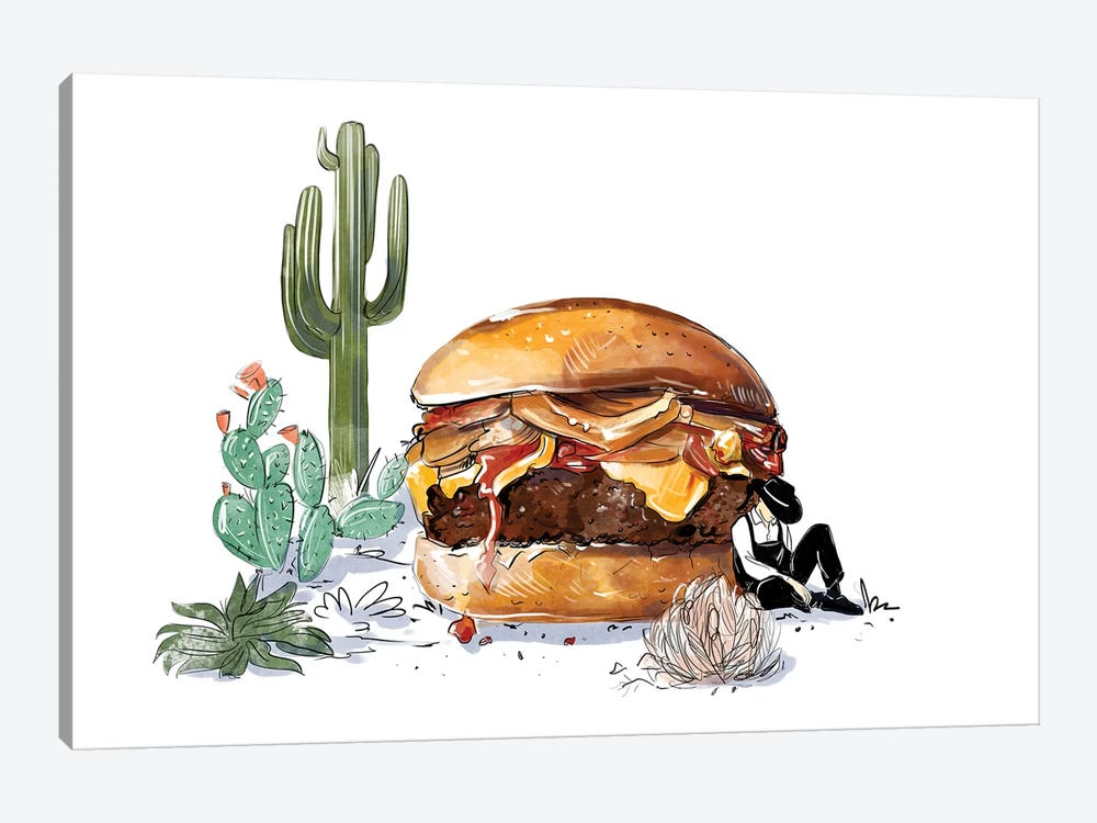 Southwest Burger by Amber Day 1-piece Canvas Art Print