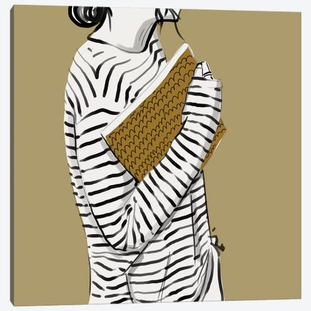 Stripes Canvas Print #DAY46} by Amber Day Canvas Artwork
