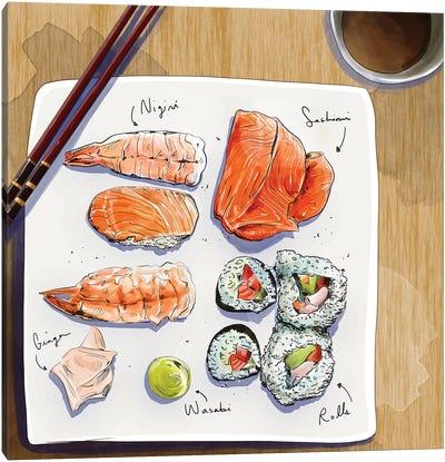 Sushi Canvas Art Print