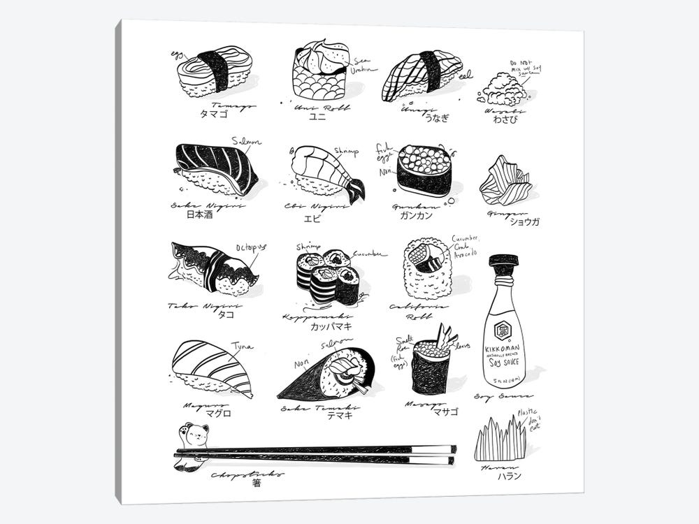 Sushi Guide by Amber Day 1-piece Canvas Artwork