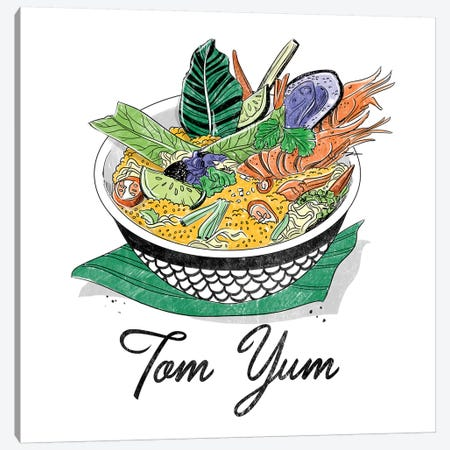 Tom Yum Canvas Print #DAY50} by Amber Day Canvas Wall Art