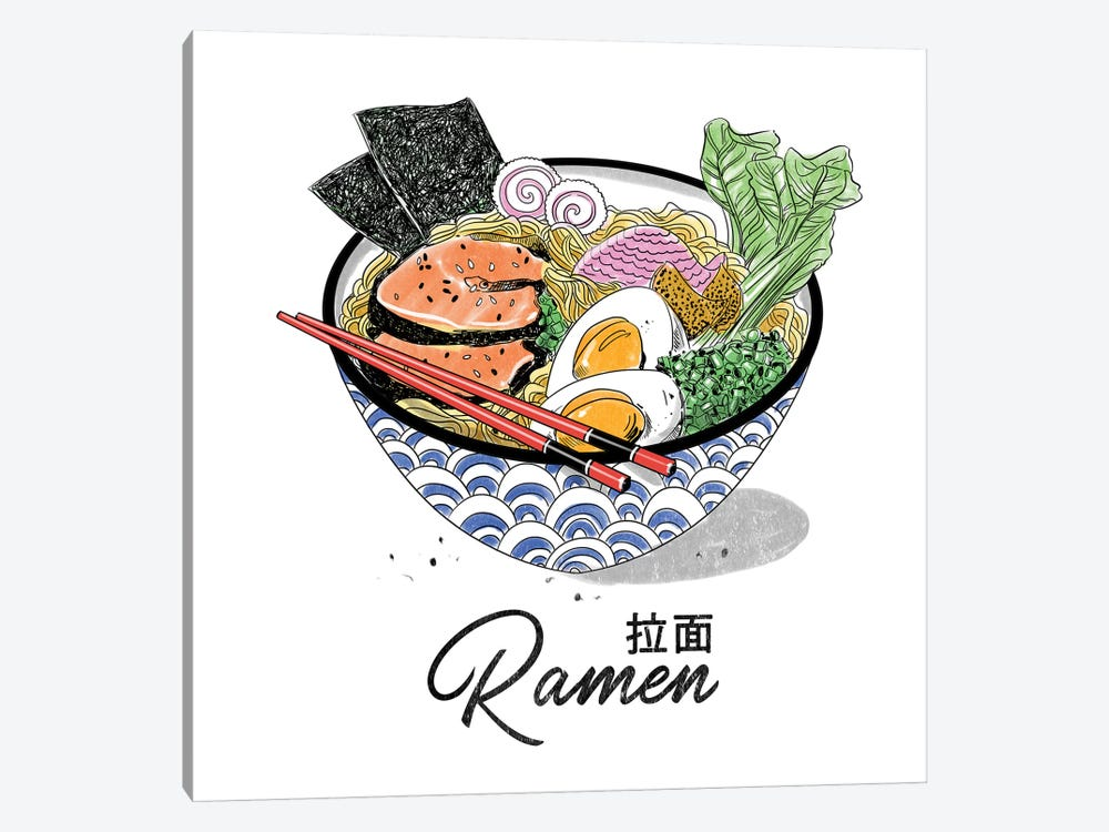 Bowl Of Ramen by Amber Day 1-piece Canvas Artwork