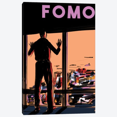 FOMO Poster II 3-Piece Canvas #DAY63} by Amber Day Art Print