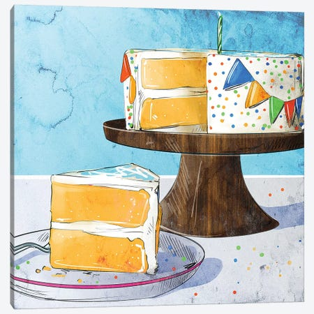 Happy Birthday Canvas Print #DAY65} by Amber Day Canvas Artwork