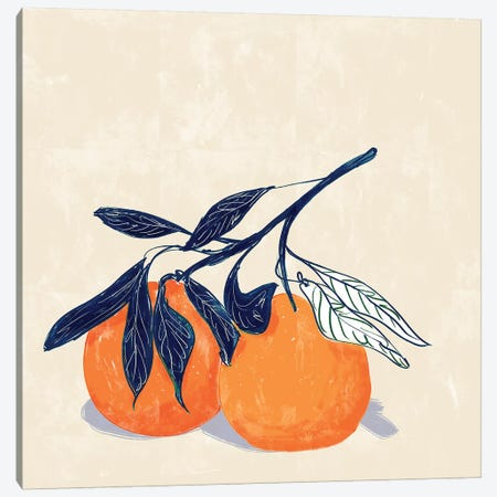 Oranges Canvas Print #DAY71} by Amber Day Canvas Art