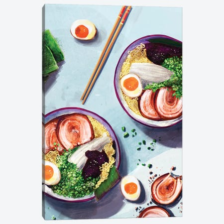 Ramen Canvas Print #DAY74} by Amber Day Canvas Print