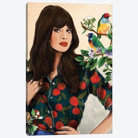 Rare Birds Canvas Print #DAY75} by Amber Day Art Print