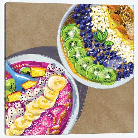 Smoothie Bowls Canvas Print #DAY76} by Amber Day Canvas Print