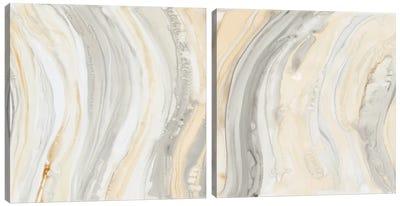 Alabaster Diptych Canvas Art Print