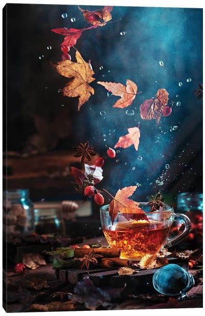 Briar Tea With Autumn Swirl Canvas Art Print