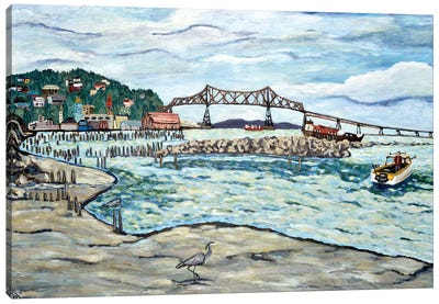 Astoria Heron Canvas Art Print