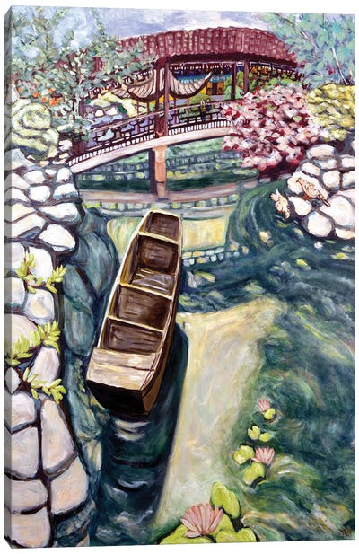 Lansu Canoe Canvas Art Print