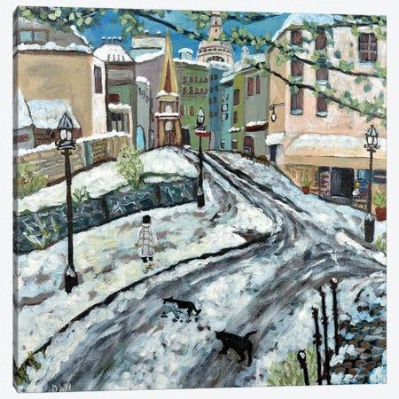 Early Snow Canvas Print #DBH35} by Deborah Eve Alastra Canvas Art