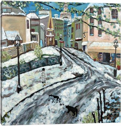 Early Snow Canvas Art Print
