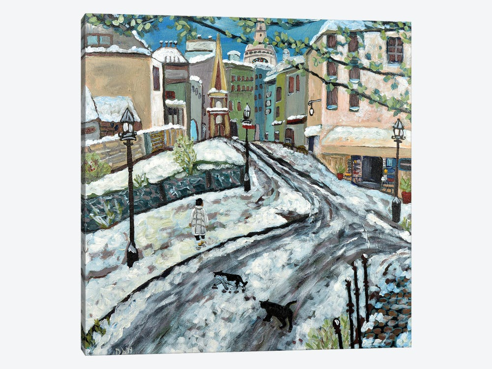 Early Snow by Deborah Eve Alastra 1-piece Canvas Art